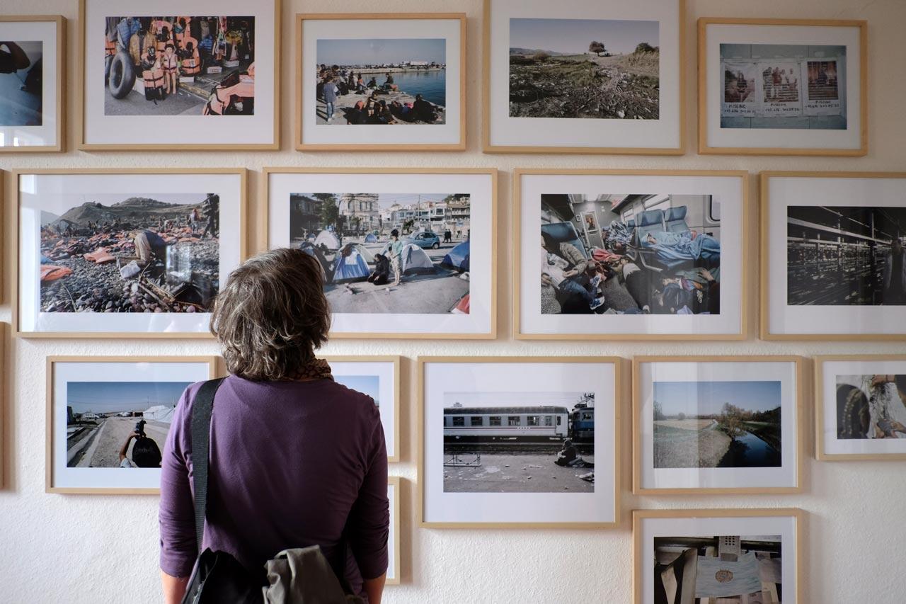Eröffnung der Ausstellung »Weggehen. Ankommen. Flucht + Aufbruch in Europa« am 9. April 2016. Foto: Lutz Fischmann