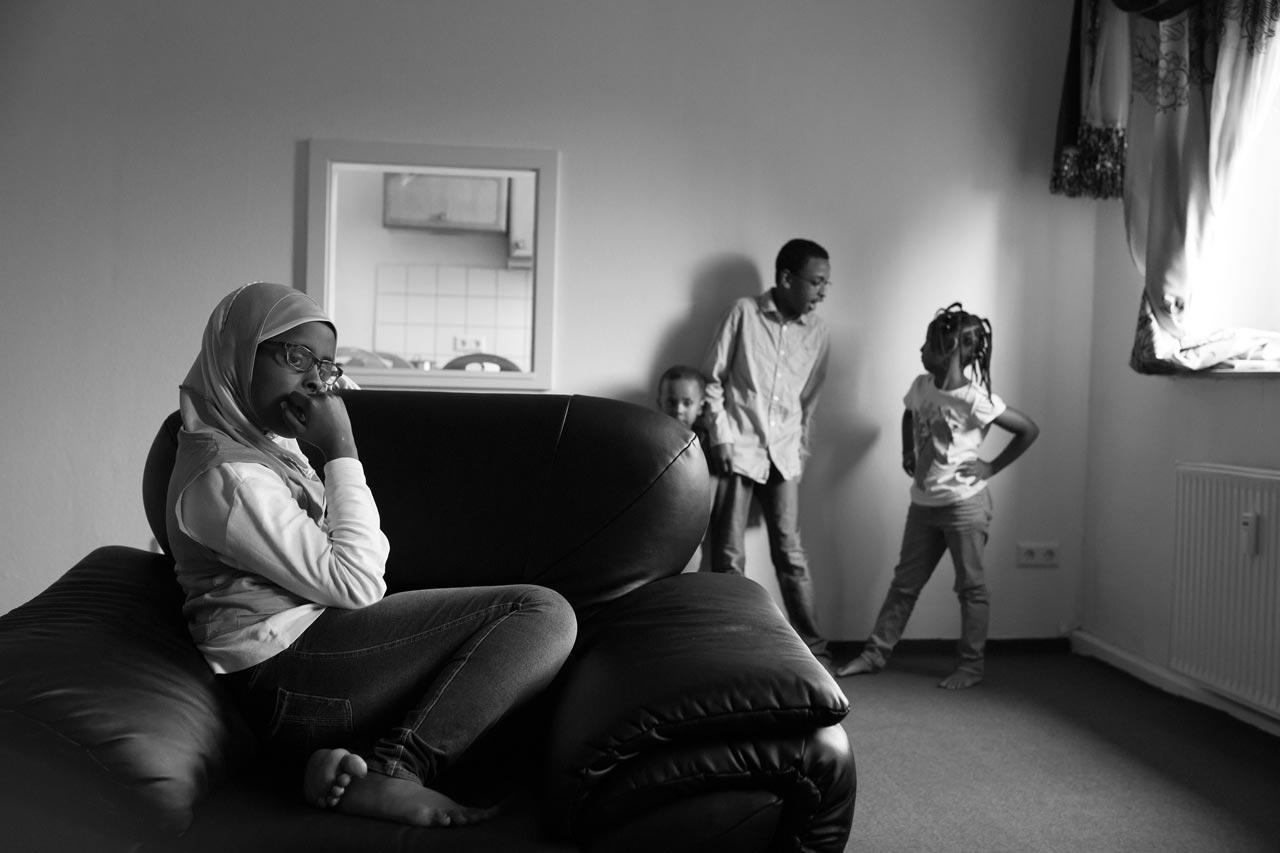 Familie M. aus Somalia. Foto: Klaus Görgen