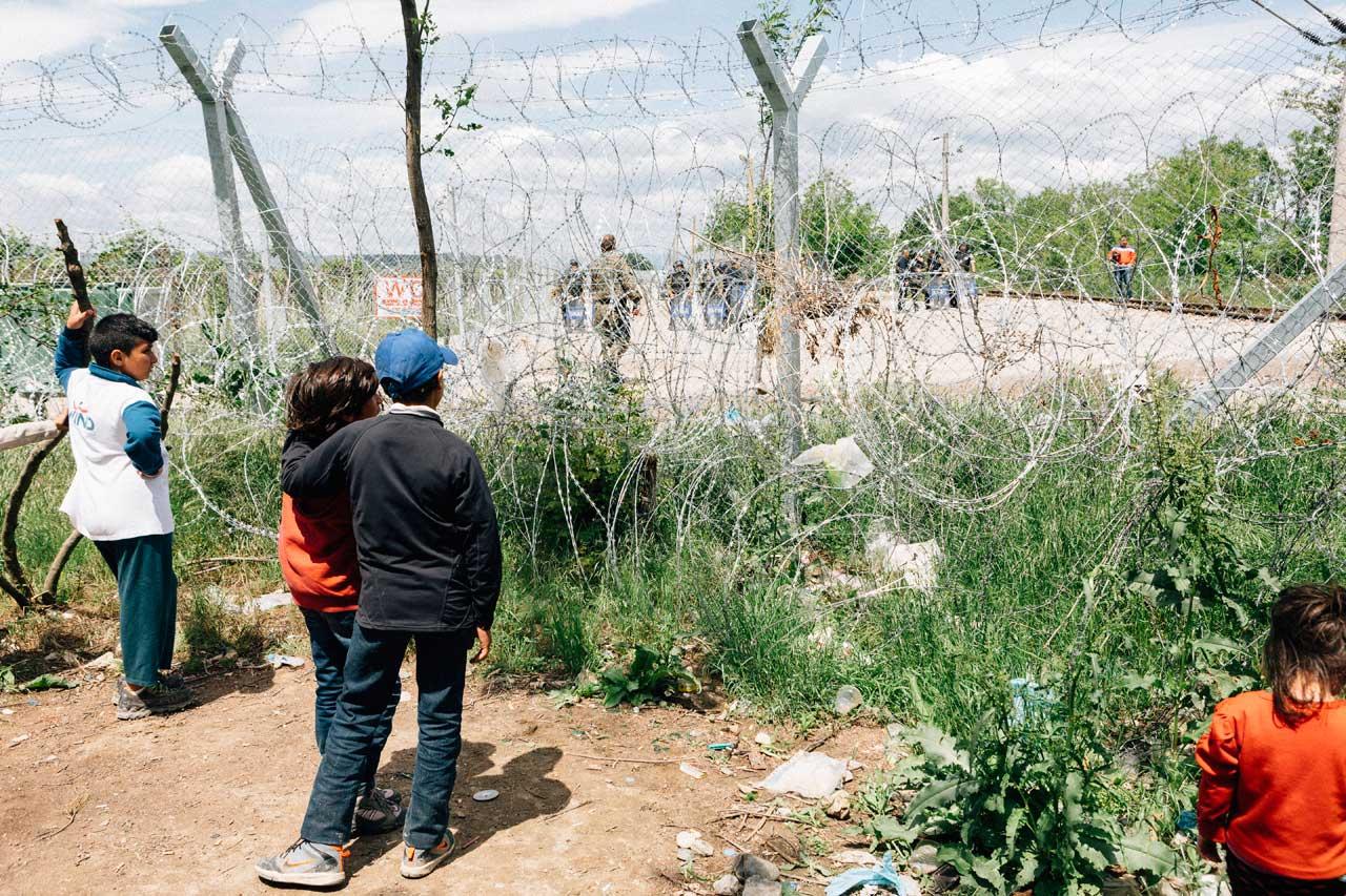 Aus der Serie »Zwei Familien in Idomeni«. Foto: Ralph Pache