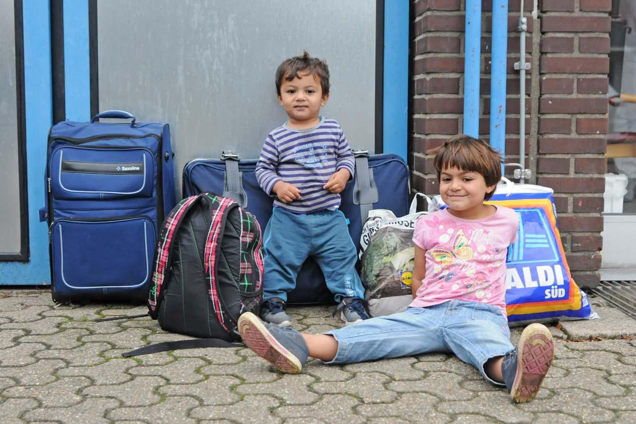 Daniela Schlutz betreute Flüchtlingskinder in der Zentralen Unterbringungseinrichtung in Rees. Foto: Daniela Schlutz